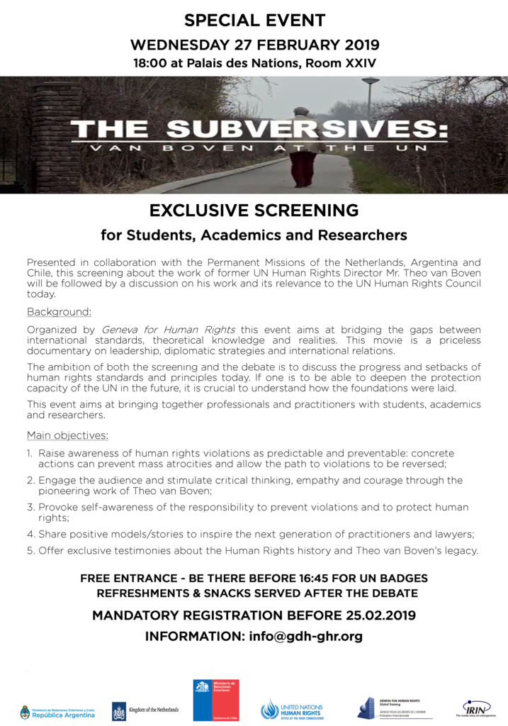 EXCLUSIVE SCREENING for Students, Academics & Researchers